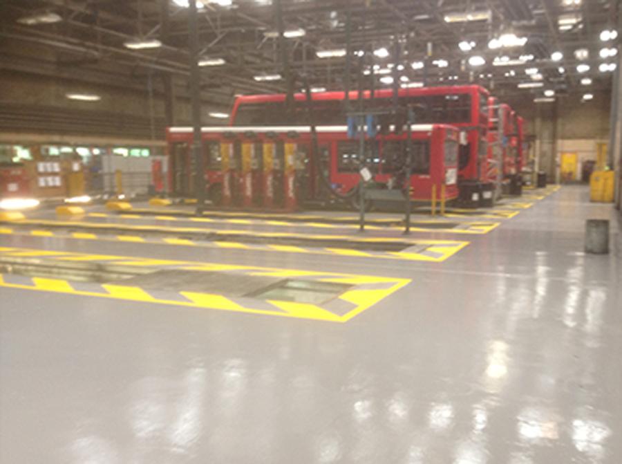 Industrial floor painting intercity contractors for Commercial flooring contractors