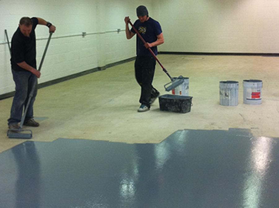 Industrial floor painting intercity contractors for Concrete floor cleaning contractors